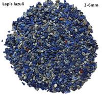 горный хрусталь чипы оптовых-C11 3-5 мм Натуральный Лазурит Кварц Кристалл Рок Чипсы Минеральные Шарики Гарвел