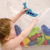 ingrosso cestini per vasca da bagno-Sacchetto della maglia del bagno del bambino Sacchetto del giocattolo del bagno del bambino Cestini della tazza di aspirazione dei bambini Canestro del sacchetto del giocattolo del bagno
