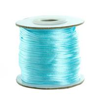nylon 1,5mm großhandel-1,5 mm Makramee Schnur Perlen Schnur Thread weichen Satin Rattail Seide Nylon Kumihimo für Diy Schmuck machen F5177