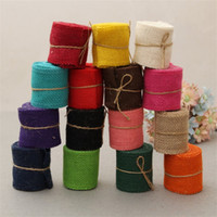 Wholesale party clothing shipping resale online - Linen Roll Colour Handmade Clothing Accessories Wrapping Jute Festive Party Supplies Natural Materials Diy Ribbon tn V