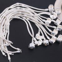 europäische charme armbänder kinder großhandel-Art und Weise Versilberung European Charm Beads DIY Armband für Pandora Style classic 3MM Frauen / Männer / Kinder Geschenke Armband