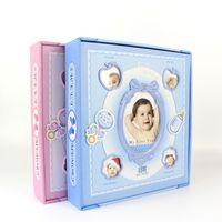Wholesale Sheet Frames - Wholesale-New 4R 6 Inch Baby Child Photo Album De Fotografia Children Grow Up Diy Interstitials Happy Family Merry Protect 120 Sheets
