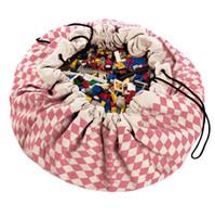 детские ползучие коврики оптовых-INS горячий продавать 140 см baby crawl pad хлопок ребенок играть в игру мат детские playmats игрушка сумка