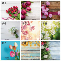 Wholesale printing photo wood wholesale online - Wooden with Flowers Photography Backdrop Wood Floral Wedding Photo Background for Birthday Wedding Decoration Home Decor Wallpapers cm