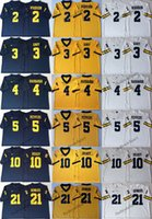 7752d66bf Michigan Wolverines 10 Tom Brady 4 Jim Harbaugh 2 Charles Woodson 5 Jabrill  Peppers 3 Rashan Gary 21 Desmond Howard College Football Jerseys