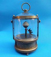 Wholesale rare fish - Rare brass Fish Mechanical Table Clock Decorations