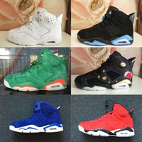 Wholesale competitive sports - 2018 Mens 6 New Hot Basketball Shoes Harvest Wheat Gatorade Competitive Top Quality Sports Athletics Training Sneakers US 7-12