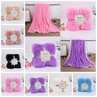 Wholesale wedding fleece for sale - Group buy Fleece Blankets cm Fluffy Plush Throw Blanket double faced pile Air Conditioning Blanket Solid Wedding Bedspreads Bedding GGA1243