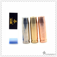 Wholesale E Cigarette Copper - Gani Mech Mod Vape Mods Clone Gani Bullet E-cigarette Mods SS Brass Copper 18650 Mechanical Mod High Quality Tube Mod