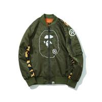 Wholesale bat women costume online - Camouflage Stitching Jacket _ black Green onesie jackets for women bomber jacket mens thongs jackets costumes tracksuit