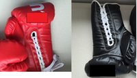 Wholesale Gloves Gear - sup boxing glove red black color in stock good quality