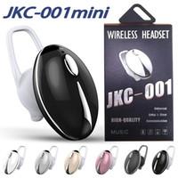 crochet de micro achat en gros de-JKC001 Mini Bluetooth Écouteurs Sans Fil Casques BT4.1 Dans L'oreille Écouteurs Sport Sweatproof Casque avec Micro Crochets D'oreille avec Boîte Au Détail
