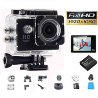 Wholesale 1080P Full HD Action Digital Sport camera Inch Screen Under Waterproof M DV Recording Mini Sking Bicycle Photo Video Cam Fastship