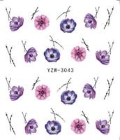 kelebek şablonlar toptan satış-LCJ Güzel Kelebek Çiçek Su Su Sticker İpuçları Nail Art Manikür Şablonlar Geçici Dövmeler
