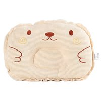 embroidered baby pillows UK - Cute Colored Cotton Newborn Cushion Flat Head Infant Shaped Pillow Baby Stripe Embroidered Shape Pillow
