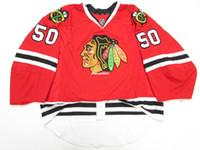 authentisches chicago hockey jersey großhandel-Günstige Custom CRAWFORD CHICAGO BLACKHAWKS AUTHENTIC EDGE JERSEY GOALIE CUT 60 Herren genäht personalisierte Hockey Trikots