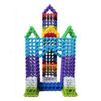 blocos de plástico para bebê venda por atacado-100 Pcs 2.5 cm Multicolor Kid Bebê Floco De Neve Criativo Plástico de Primeira Qualidade Blocos de Brinquedos DIY (tamanho: 2.5 cm)