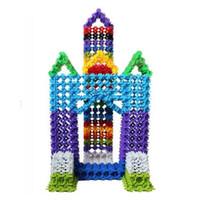 primeros juguetes de plastico al por mayor-100Pcs 2.5cm Multicolor Kid Baby Snowflake Edificio creativo Plástico de primera clase Bloques Juguetes DIY (Tamaño: 2.5cm)