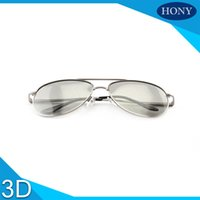 Wholesale Making 3d Movies - 1pcs Make Mental Frame Linear Polarized 3D Glasses For 3D 4D 5D 6D Cinemas,Passive IMAX Glasses for Movies