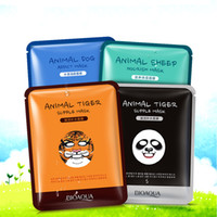 Barato Animal Masks Tigre-BIOAQUA Tiger Panda Sheep Dog Shape Animal Face Mask Hidratante Oil Control Hidratante Nourishing Facial Masks