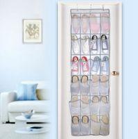 организатор туфель навесной стены оптовых-24 карманные двери висит держатель обувь организатор дома над стойкой для хранения стены мешок организатор номер шкаф обувь хорошее качество