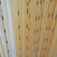 ingrosso schermo a catena-Tende trasparenti 100 * 200cm Catena Tassel finestra Tenda in rilievo Schermo di stoffa String Room Decor Hanging Door Window Room Divisorio Tenda Valance