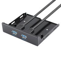 câble d'en-tête carte mère usb achat en gros de-Nouvelle carte mère de panneau avant de 3,5 po avec adaptateur de concentrateur USB 3.0 à 2 ports, embase à 20 broches