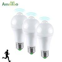 empfindliche bewegungssensorlampe großhandel-3 teile / los pir sensor motion led licht 12 watt 16 watt empfindliche menschlichen körper bewegungsmelder led lampe e27 b22 automatische ein / aus nacht lampe