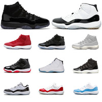 Wholesale green basketball shoes - New Basketball Shoes Prom Night Mens shoe Concord Number platinum Tint WIN LIKE UNC s Bred trainers sport sneakers