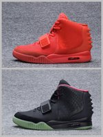 Wholesale Band Christmas - 2018 Kanye West Shoes NRG Red Octobers Shoes Gamma Blue Glow In The Dark Women And Mens Kanye West 2 Basketball Shoes 8-12