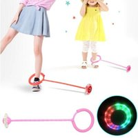 Wholesale jumping games resale online - Creative Colorful Children s LED Flash Jumping Ring Dancing Ball Glowing Fitness Educational Toys Funny Game Outdoor Sports CCA10200