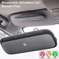 kit manos libres de visor bluetooth al por mayor-Envío gratis Multifuncional Bluetooth Wireless Car Hands Multipoint Speakerphone Speaker Kit Link Visor La llamada telefónica contestador automático