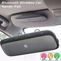 ingrosso kit visiera bluetooth kit gratuito-Spedizione gratuita Multifunzione Bluetooth Wireless Car Hands Altoparlante Multipoint Speaker Kit Link Visor La chiamata telefonica Risposta automatica