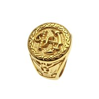 Wholesale fashion rings for sale - 2018 Mens ring vintage hip hop jewelry No inlay protection plating gold luxurious rings Anchor shape personality fashion Jewelry