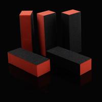 kunst schwarzes sandpapier großhandel-Orange Schwarz 4 Möglichkeiten Schleifen Schleifpapier für Tipps Nagel Maniküre Werkzeuge Nail Art Pufferblock Nagelfeile Nagelfeilen
