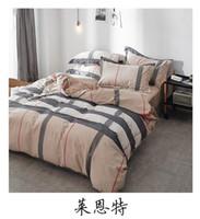 çocuklar için kraliçe yatak toptan satış-Yatak setleri Bambu Elyaf Jakar Nevresim Set Çarşaf + yorgan + Yastık Tam Kral Kraliçe Ikiz çocuk Boyutu Yatak Seti