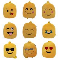 ingrosso borse stile borsa-Fashion 10 stili emoji peluche borsa alla moda carino emoji zaino bambino spalla scuola borsa borsa a tracolla borsa