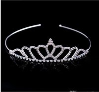 Hot Sale Headpieces Shiny Crystal Bridal Tiara Party Pageant Silver Plated Crown Hairband Cheap Wedding Accessories 2018 New Design
