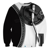Wholesale hip hop disco for sale - Group buy Black Disco Music D All Over Print Crewneck Pullover Sweatshirts Hipster Streetwear Hip Hop Kid Unisex US Size LMS0055