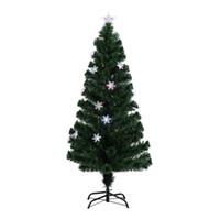 outdoor led dekorative baum lichter großhandel-Schneeflocken-Weihnachtsbaum-dekorativer Innen LED-Farbwechsel im Freien LED-künstliche Faser-Optik-Lichter hoher US-Stecker
