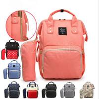 Wholesale stripe maternity - Nappies Diaper Bags Mommy Backpacks 10 Styles Camo Waterproof Maternity Handbags Mother Backpacks Nursing Travel Outdoor Bags OOA5202