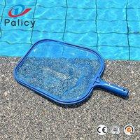 folha de compensação venda por atacado-Palicy Profissional Azul Folha de Plástico Ancinho Malha Net Skimmer Equipamento Limpo Ferramenta Piscina Ferramenta Skimmers Net 9pl gg