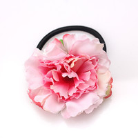 модные аксессуары для цветов оптовых-M MISM New Fashion Beach Style Korean Carnation Flowers Scrunchy Elastic Hair Bands For Girls Women Gum For Hair Accessories