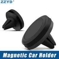 lufttelefon eins großhandel-ZZYD Air Vent Mount Universal-Autohalterung für Smartphone iPhone 7 8 One Step Montage Verstärkter Magnet Leichteres sichereres Fahren