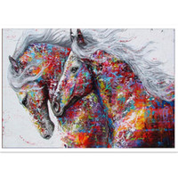 Wholesale oil painting cross stitch resale online - DIY D Diamond Painting Rhinestones Full Drill Cross Stitch Bedroom Embroidery Animal Mosaic Craft Kits Horses Arts Gifts Home Decor lx bb