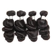 продукты для девственных бразильских волос оптовых-Бразильские свободные волосы девственницы волны 10A 4 пачки свободные выдвижения человеческих волос волны перуанские Малайзийские индийские девственные продукты волос