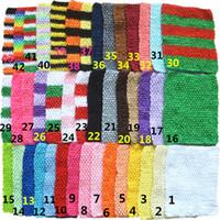 8fe09d44ed5 Wholesale crochet tutu tops online - 9inch Baby Girl Elastic Chest Wrap  Infant Waffle Crochet Headband