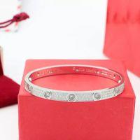 ingrosso braccialetti degli amanti-bracciale amanti classico in oro rosa 18 carati con diamante in titanio, anello eterno pieno di diamanti, bracciale in argento con decorazione a mano, bracciale 2018