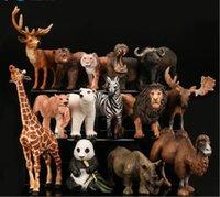 ingrosso mini figurine animali-COOL Giocattoli per bambini regalo Realistico Wildlife Wild Zoo Statuetta animale Modello Action Figure Kid Gift Toys # 313