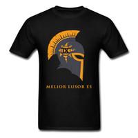 ingrosso padre di ferro-Iron Knights 9 Shirt T-Shirt per ragazzi Europa Size Padre Tops Shirts 2018 New uomo Hipster T-Shirt O Neck 100% Coon